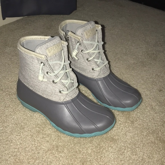 Sperry Shoes   Sperry Duck Boots Grey